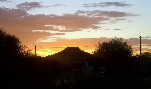 Sunset in Mochudi
