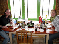 Thanksgiving dinner with Drew in Puerto Natales!