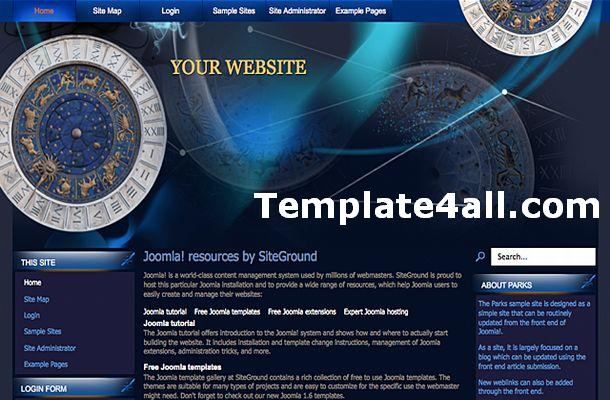 Abstract Astrology Blog Blue Joomla Theme Template