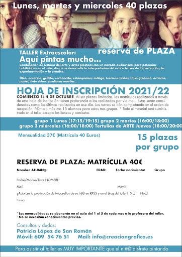 Inscripción 2021/22