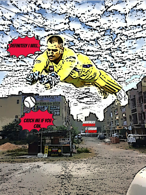 Wicket Keeper, Comics, Daily Comics, Visual Graphics, Indian Captain, men in blue, Cricketer, CSK IPL , Chennai,Ranchi