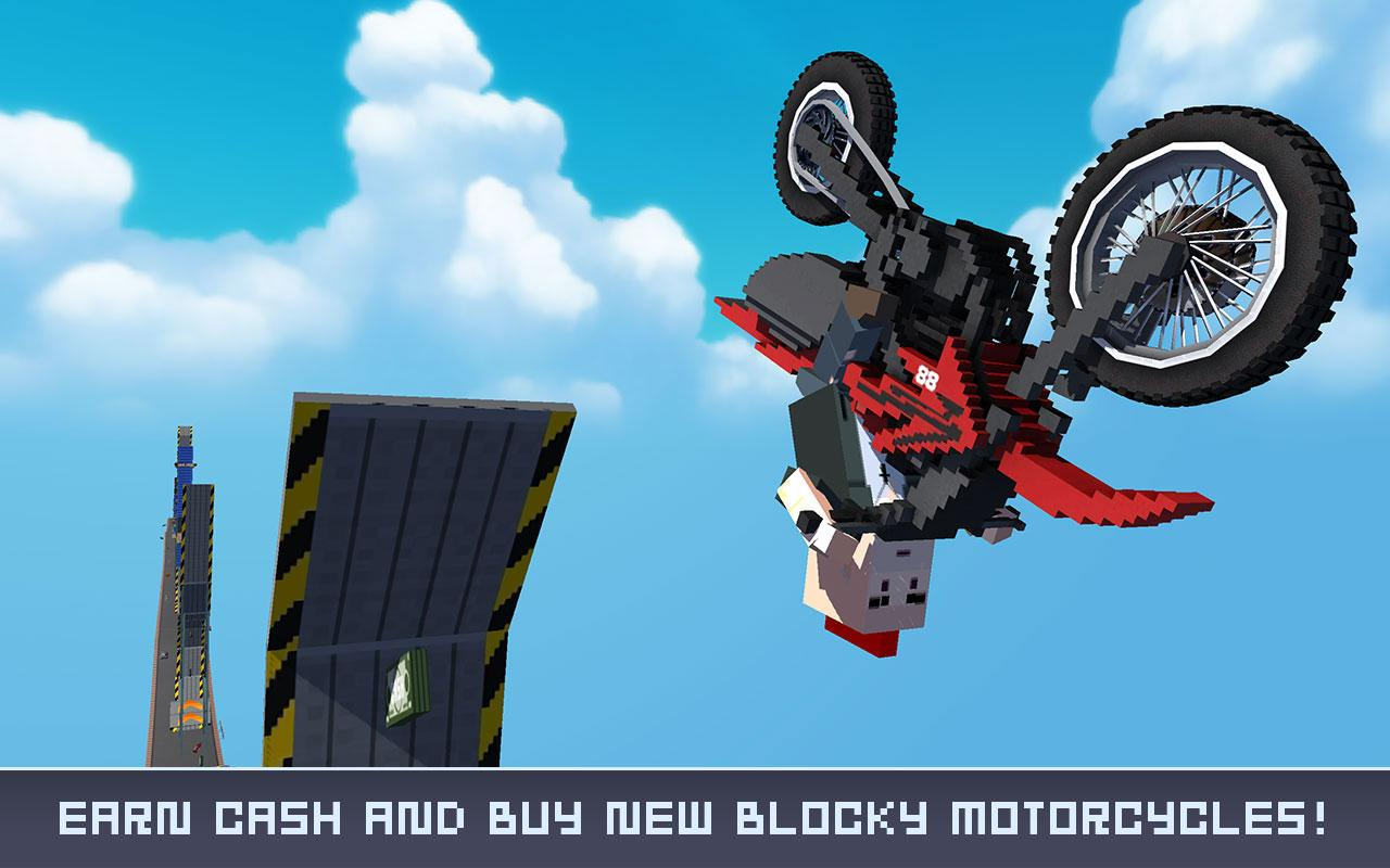 Blocky Crazy Stunt Jumper- screenshot