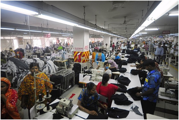 Workers in apparel industry