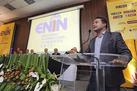 O governador Renan filho participar do encontro internacional.