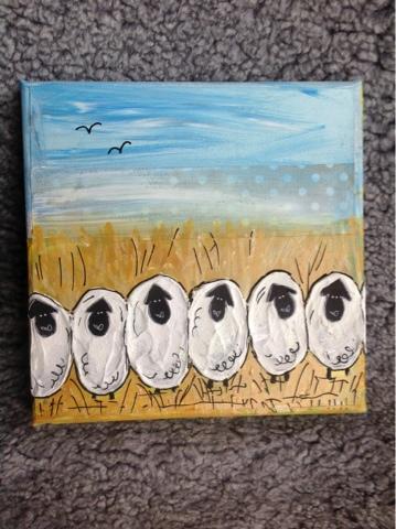 Ingen rädder för vargen -  Fält med får - © Yes Design 2013