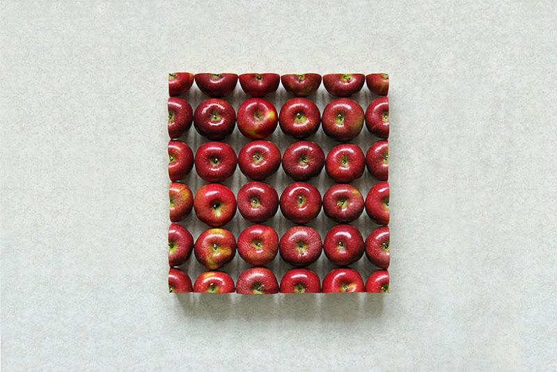 Строгая геометрия фруктов. 12 фото