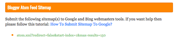 Kim six urls for sitemap