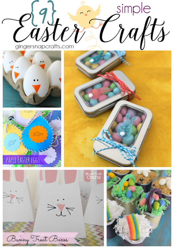 9 Simple Easter Crafts at GingerSnapCrafts.com #Easter #crafts