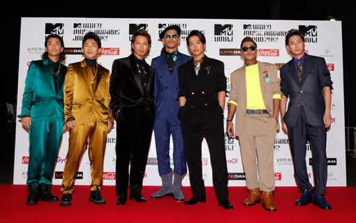 J soul brothers on the red carpet | MTV Video music awards Japan 2012