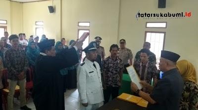 Pelantikan Penjabat Kades Kadununggal