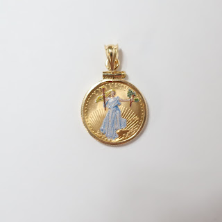 999 Gold Coin Pendant