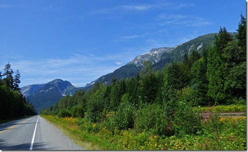 Coast Mountains along Yellowhead Highway between Terrace and Prince Rupert