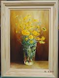 tutejsze kwiatki, olej, płótno, 27/41 cm, własność prywatna