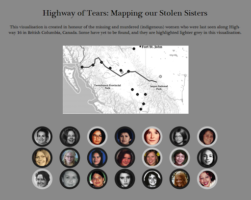 Highway Of Tears Mapping Our Stolen Sisters Data Viz Done Right - Highway of tears canada map