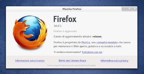 Mozilla Firefox 16.0.1