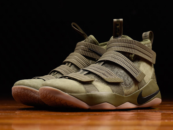 ... Closer Look at Nike LeBron Soldier 11 Olive ... f0fa28773