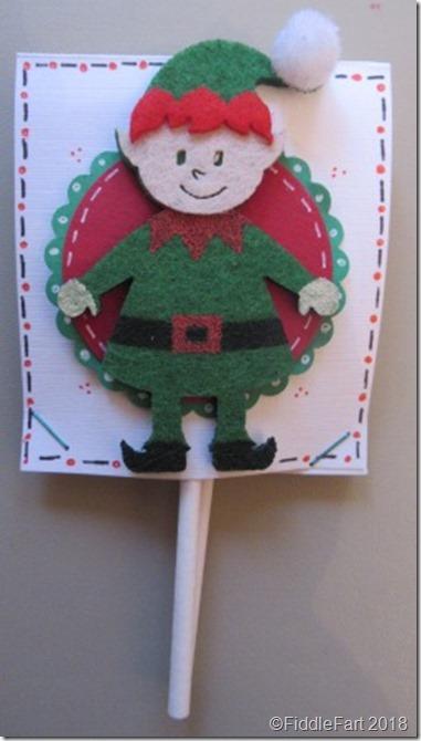 Christmas Elf popsicle lollipop cover favour