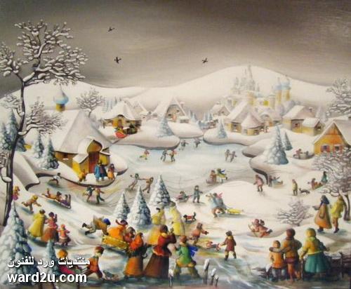 عالم ملون في لوحات الفنانة Charlotte Lachapelle
