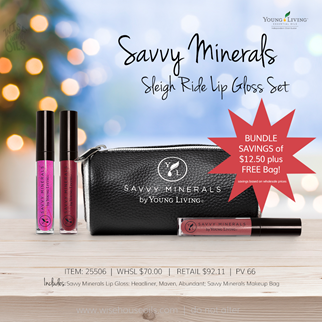 Young Living Gift Ideas Holiday Catalog 2018 SM Lip Gloss Set Sleigh Ride A savings