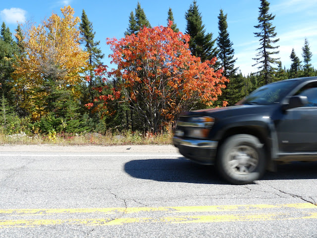 The traffic on Highway 389 between Baie Comeau and Fermont was surprisingly heavy.