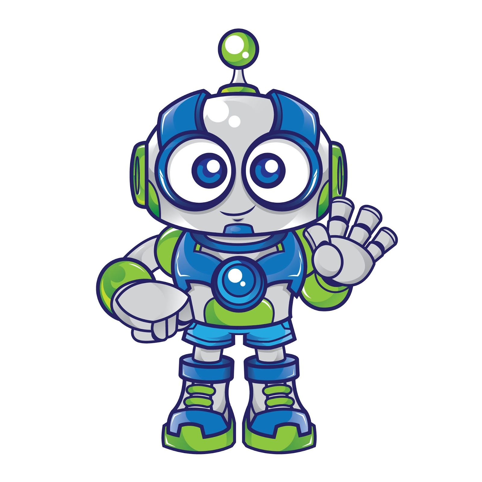 Robot Mascot Character Free Download Vector CDR, AI, EPS and PNG Formats
