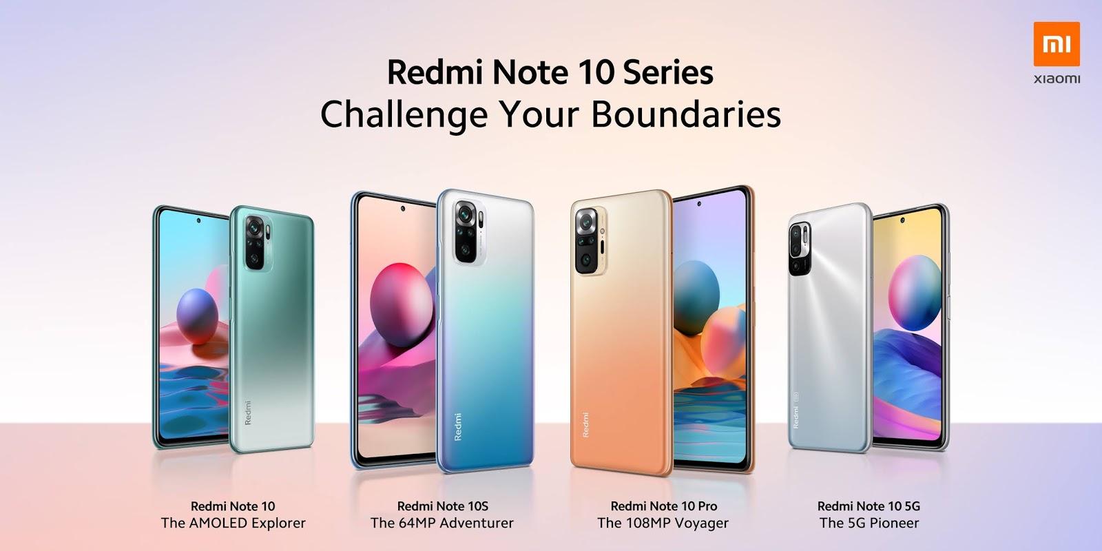 ท้าทายทุกข้อจำกัดของคุณไปกับ Redmi Note 10 Series ใหม่ล่าสุด