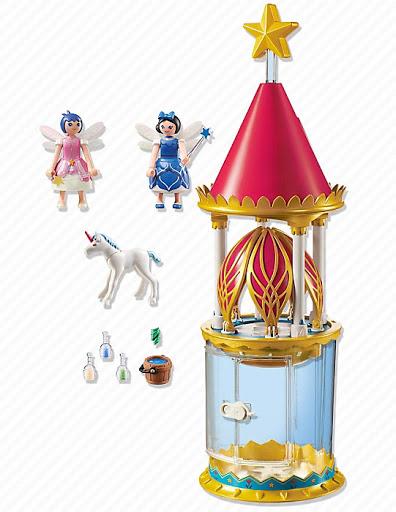 Contenido real de Playmobil® 6688 Torre Flor Mágica con Caja Musical y Twinkle