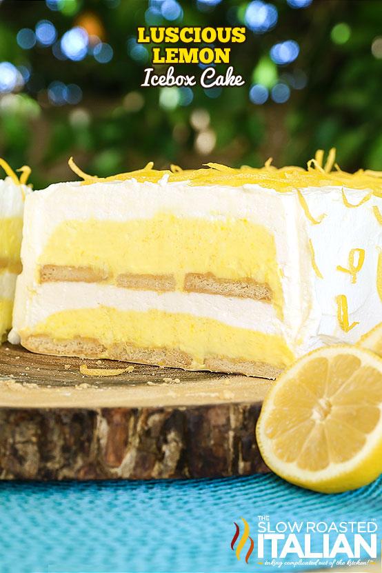 Luscious Lemon Icebox Cake on a trivet