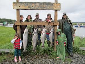 Photo: Alaska king salmon fishing is best on the Kasilof in June & July.