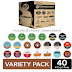 K-Cup Coffee Sale: 40 Pack of Keurig  Variety Pack K-Cups $12.75 (Reg $25.49). On sale for Half Price because they expire on 6/24/21.