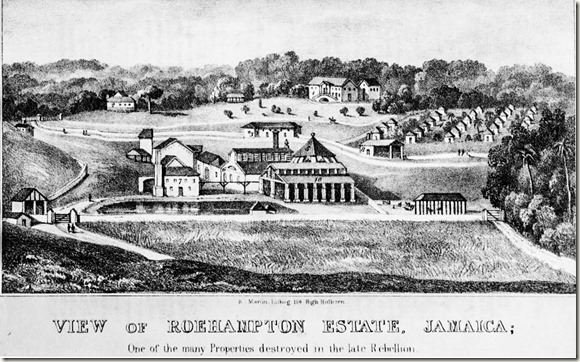Roehamton Plantation and Slave Village Jamaica 1825-James Hakewill