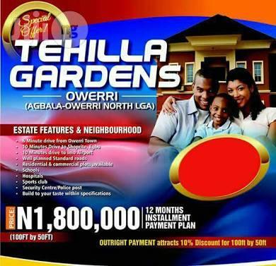 Tehilla Gardens EstatePhase 2 Owerri at 1.8m Per plot