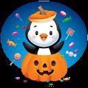 Pingüino Halloween - Dentro de la calabaza