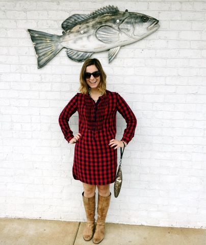 old navy shirt dress, sequin clutch, holiday style