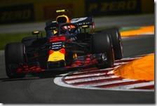 Max Verstappen nelle prove libere del gran premio del Canada 2018
