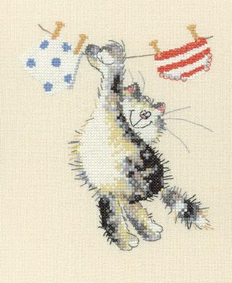 Purr-Pendicularcross stitch pattern