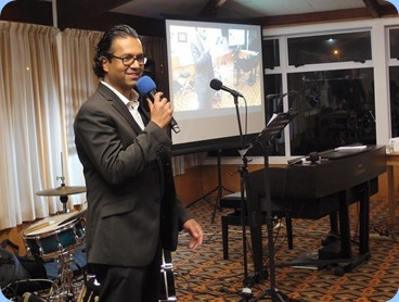 Our guest artist, Ben Fernandez introducing his invited guest artists. Photo Courtesy of Dennis Lyons.