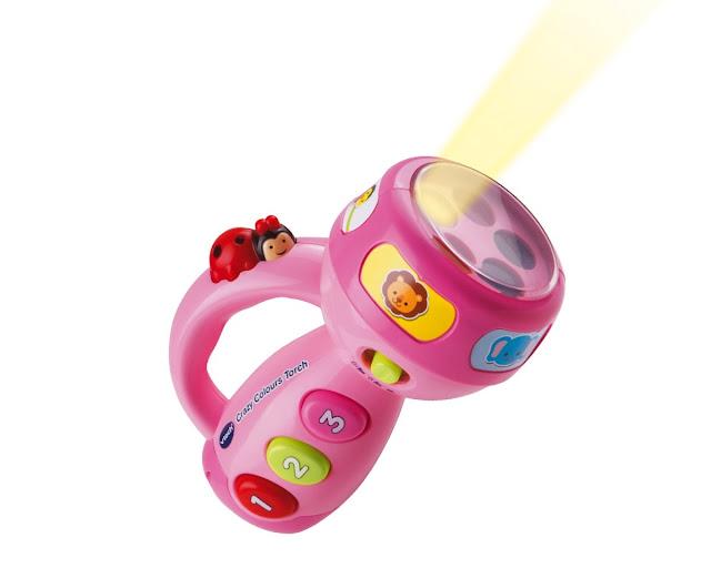 Đèn pin màu hồng Crazy Colours Torch Vtech