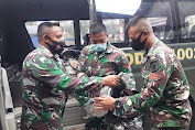 Satgas TMMD ke-112 Terima Kaporlap Dukungan Mabes TNI