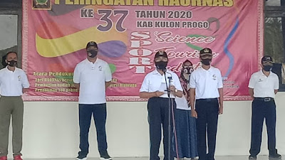 Pasipers Kodim 0731/Kulon Progo Hadiri Upacara Haornas ke-37 Tahun 2020