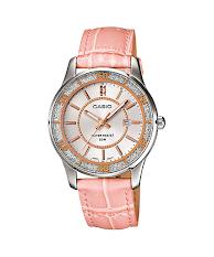 Jam Tangan Wanita Tali Kulit Pink Casio Standard : LTP-V300L-4A