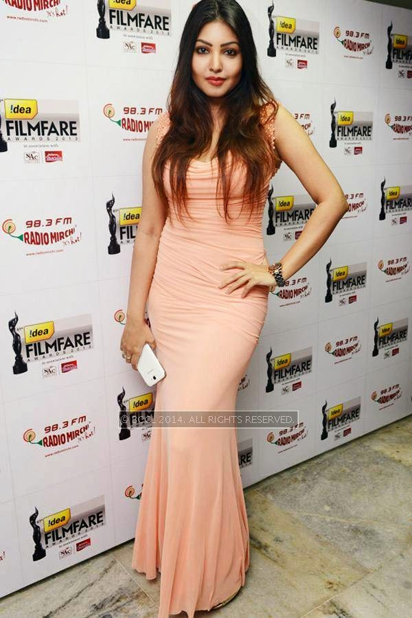 Komal Jha during the 61st Idea Filmfare Awards South, held at Jawaharlal Nehru Stadium in Chennai, on July 12, 2014.