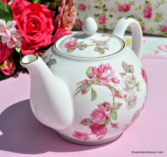 Elizabeth Rose Fine Bone China Teapot
