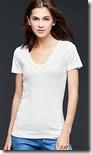 Gap Modern V Neck T-Shirt cotton and Modal