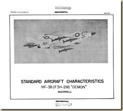 F3H-2M Demon Standard Aircraft Characteristics