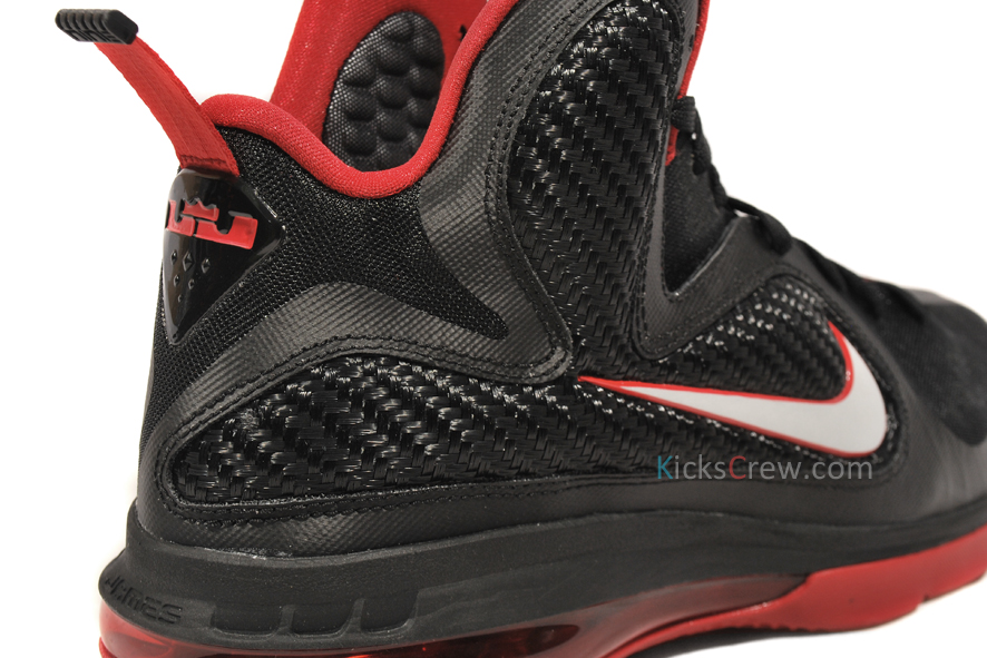 wholesale dealer f3d95 96b00 Yet Another Look at Nike LeBron 9 in Black amp Varsity Red ...