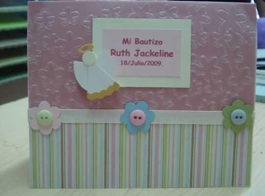 Hermosas tarjeta de invitación para bautizo