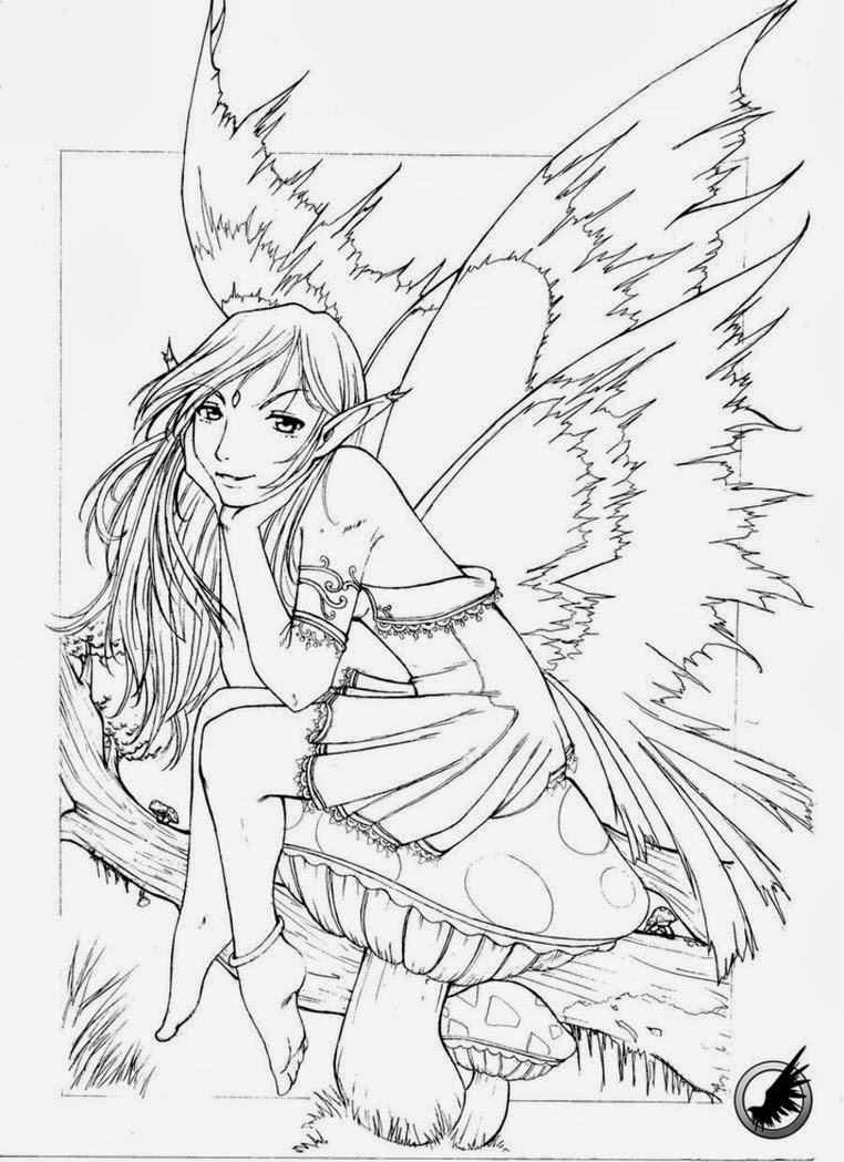 Free Printable Fairy Coloring Pages For Kids - Coloring Home | 1049x762