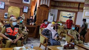 Bupati Masnah Gelar Rapat Koordinasi Bersama Presiden Jokowi Secara Virtual