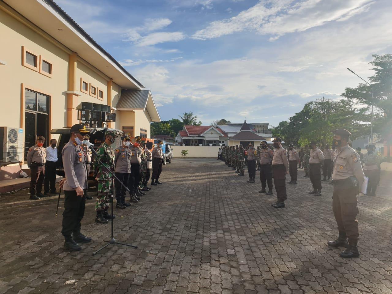 Sukseskan Kunjungan Mendagri, Polres Gowa Laksanakan Gladi Bersama Instansi Terkait